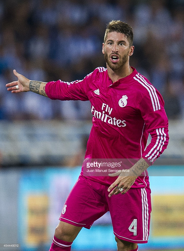 d6e021522 Spanish League 14-15. Away Shirt. Sergio Ramos. Real Madrid ...